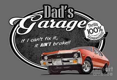 Dad's Garage With Nova Art Print