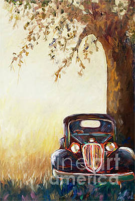 Painting - Dads Old Car by Pati Pelz