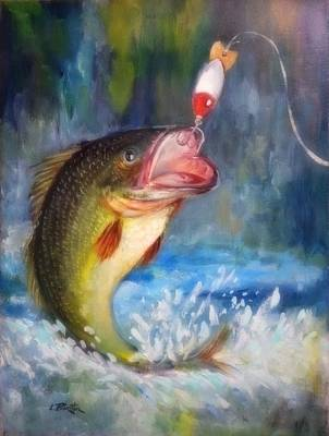 Lynn Burton Painting - Dad's Old Lure by Lynn Burton