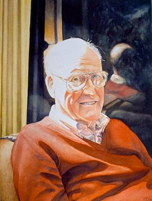 Painting - Dad's Red Sweater by Barbara Pease