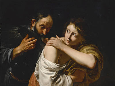 Painting - Daedalus And Icarus by Follower of Caravaggio