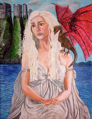 Painting - Daenerys Game Of Thrones by Jacqueline Martin