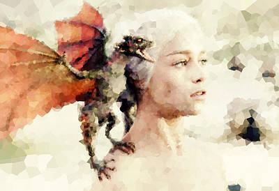 John Doe Digital Art - Daenerys Targaryen - Game Of Thrones by John Doe