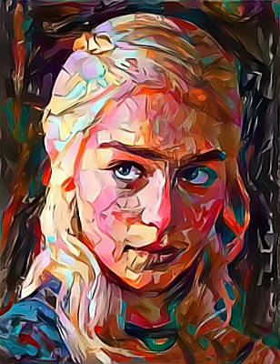 Painting - Daenerys Targaryen  by Paul Van Scott