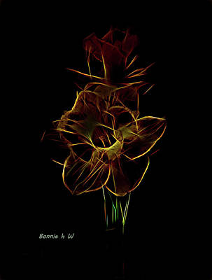 Digital Art - Dafadil Aglow by Bonnie Willis