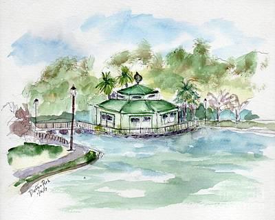 Painting - Daffin Park Savannah Ga by Doris Blessington