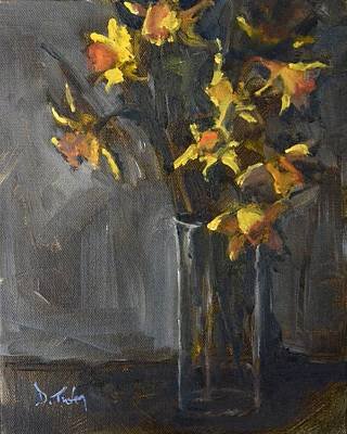 Daffodils Painting - Daffodil Bouquet by Donna Tuten