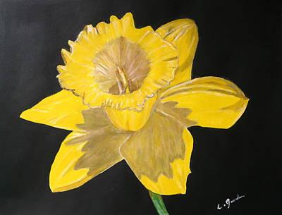 Painting - Daffodil by Cathy Jourdan