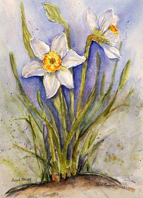 Painting - Daffodil Couple by Anna Jacke