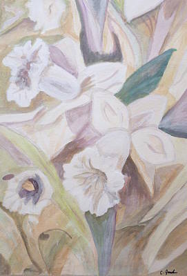 Painting - Daffodil Delight by Cathy Jourdan