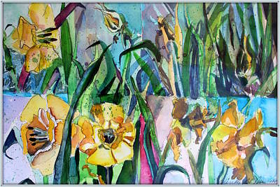 Spring Bulbs Painting - Daffodil Delight by Mindy Newman