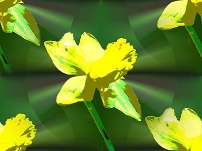 Daffodils Digital Art - Daffodil Delight by Tim Allen