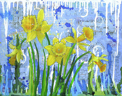 Painting - Daffodil Ding Dongs by Lisa Crisman