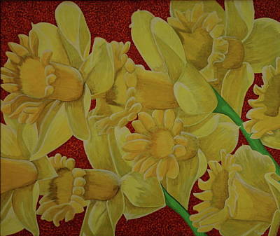 Painting - Daffodil Grandiflora by Paul Amaranto