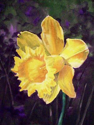 Realistic Painting - Daffodil by Irina Sztukowski