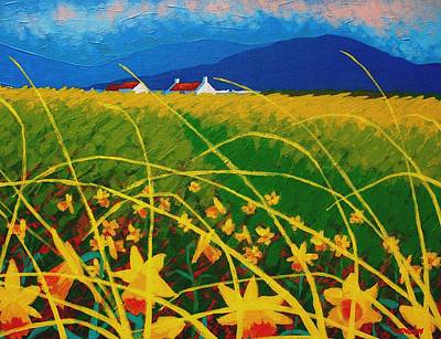 Daffodil Landscape Art Print