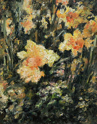 Daffodils Painting - Daffodil by Rachel Christine Nowicki