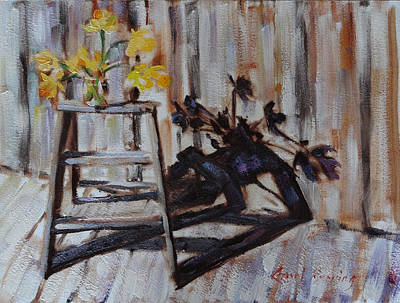 Painting - Daffodil Shadows by Carol Berning