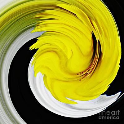 Floral Digital Art Digital Art Digital Art - Daffodil Twist by Sarah Loft