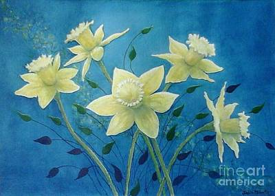 Daffodils Painting - Daffodil Welcome by Judith Monette