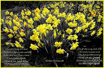 Photograph - Daffodils 2 by Joan-Violet Stretch