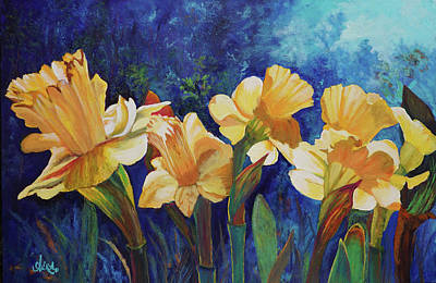 Painting - Daffodils by Alika Kumar