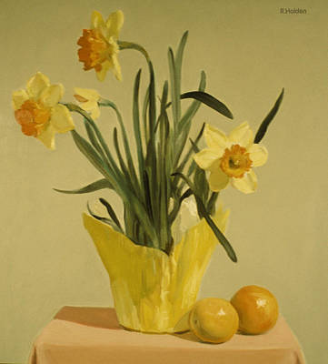 Painting - Daffodils And Oranges by Robert Holden