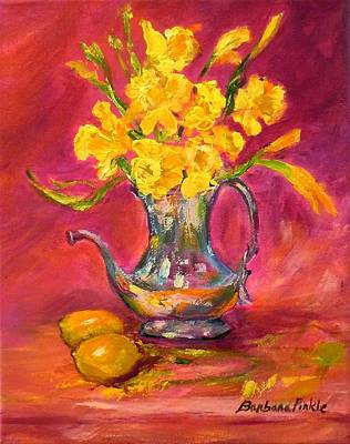 Painting - Daffodils And Teapot by Barbara Pirkle