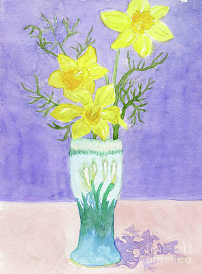 Painting - Daffodils by Anne Marie Brown
