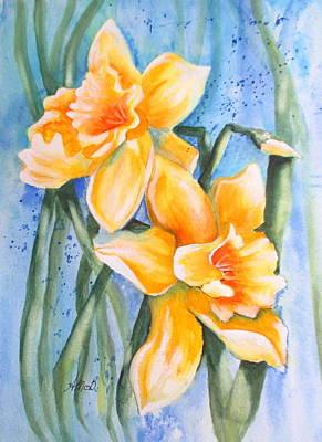 Daffodils Original by April McCarthy-Braca
