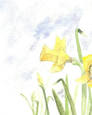 Daffodils Art Print by Denise   Hoff