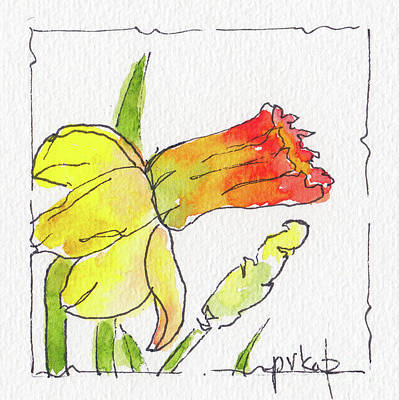 Painting - Daffodils In January by Pat Katz