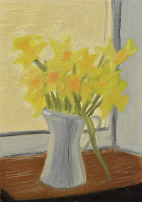 Painting - Daffodils In Jug by Marina Garrison