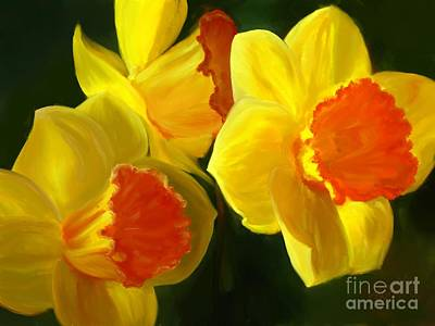 Painting - Daffodils In The Sun by Roxy Riou