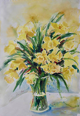 Painting - Daffodils by Ingrid Dohm