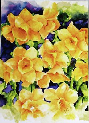 Daffodils Painting - Daffodils by Joshua Englehaupt