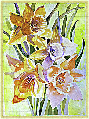 Spring Bulbs Painting - Daffodils Of March by Mindy Newman