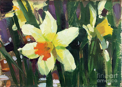 Wall Art - Painting - Daffodils by Patrick Saunders