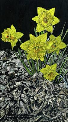 Painting - Daffodils by Robert Goudreau