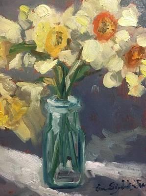 Painting - Daffodils by Susan Elizabeth Jones