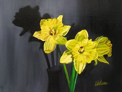 Painting - Daffodil's Yellows by LaVonne Hand
