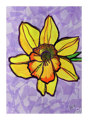 Mixed Media - Dafodil by Rebecca Weeks Howard