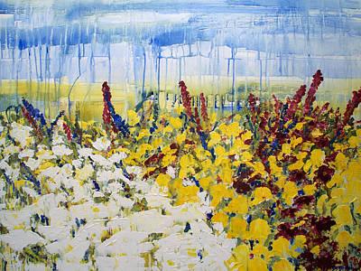 Daffodils Painting - Dafodils And Azalias by Diane Dean