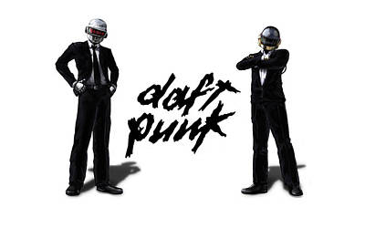 Daft Punk - 132 Art Print by Jovemini ART