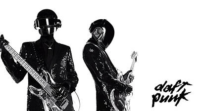 Daft Punk - 400 Art Print by Jovemini ART