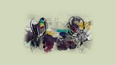 Daft Punk Painting - Daft Punk Painting - 445 by Jovemini ART