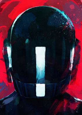 Daft Punk II Art Print by Mortimer Twang