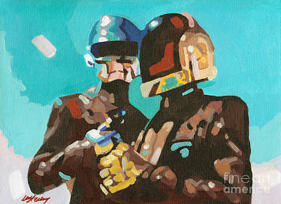 Daft Punk Art Print by Lorna Marie Stephens