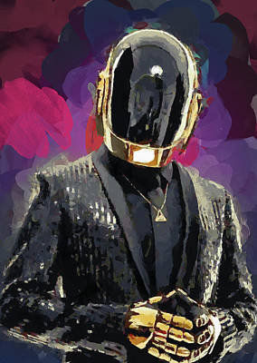 Daft Punk Art Print by Mortimer Twang