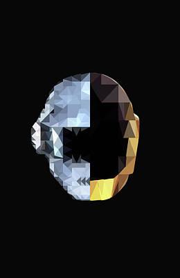 Daft Punk Digital Art - Daft Punk by Poojit Rasalkar